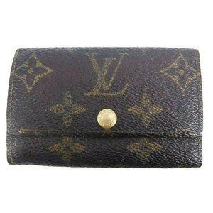 Louis Vuitton Monogram Key Holder/Wallet #483***